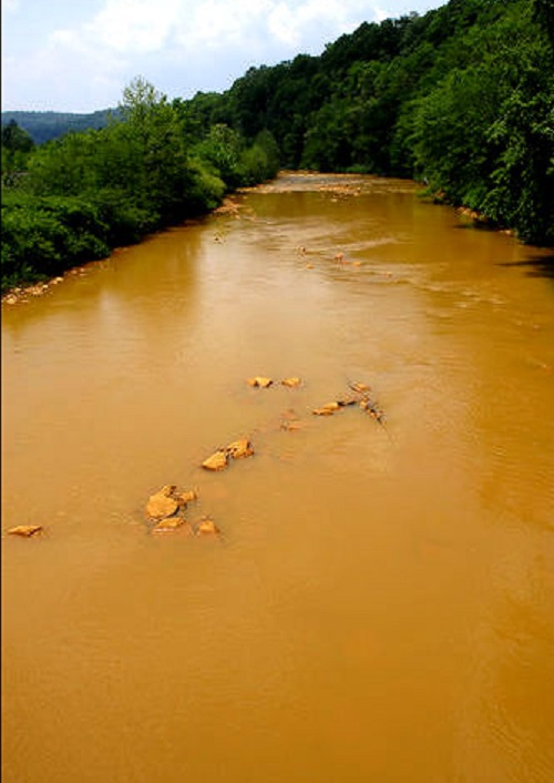 Mineral  before treatment. Photo: PA Department of Environmental Protection